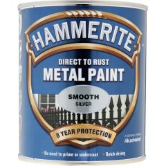 Direct To Rust Metal Paint Smooth Silver 2.5 Litre