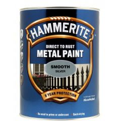 Direct To Rust Metal Paint Smooth Silver 5 Litre