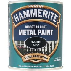 Direct To Rust Metal Paint Satin Black 2.5 Litre