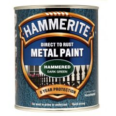 Direct To Rust Metal Paint Hammered Dark Green 750Ml