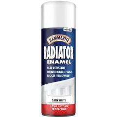 Radiator Aerosol Paint Satin White 400Ml