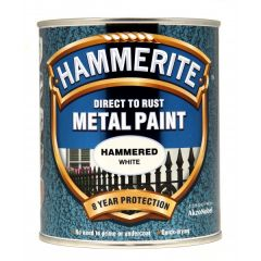 Direct To Rust Metal Paint Hammered White 750Ml