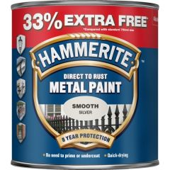 Direct To Rust Metal Paint Smooth Silver 750Ml 33 Ef