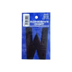 W 3In. Adhesive Digit Black Pack Of 12