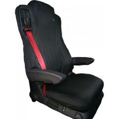 Truck Seat Cover Passenger Black Mercedes Actros Antos Euro 6