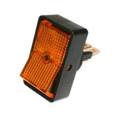 Onoff Round Switch Amber Illuminated