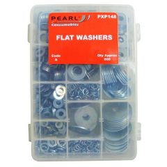 Zinc Plated Washers Flat Assorted Pack Of 800