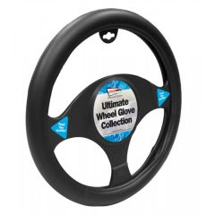 Steering Wheel Cover Luxury Black