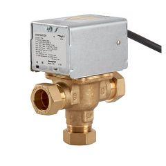 Honeywell Home 3 Port Motorised Mid Position Zone Plumbing Heating Valve 22 Mm V4073a1039/U