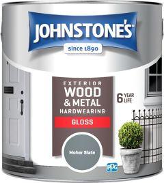 Johnstone's Exterior Hardwearing Gloss 2.5L Moher Slate