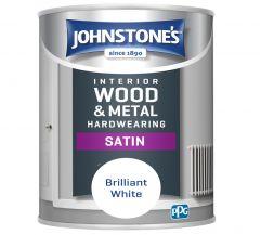 Johnstone's Hardwearing Satin - Brilliant White 750ml