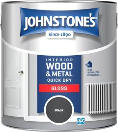 Johnstone's Quick Dry Gloss 2.5L Black