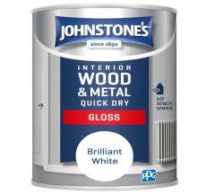 Johnstone's Quick Dry Gloss - Brilliant White 750ml