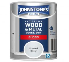 Johnstone's Quick Dry Gloss 750ml Frosted Silver