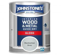 Johnstone's Quick Dry Gloss 750ml Manhattan Grey