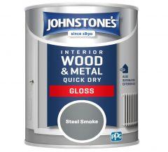 Johnstone's Quick Dry Gloss 750ml Steel Smoke