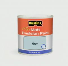 Rustins Matt Emulsion 500ml Grey