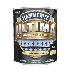 Hammerite Ultima Matt All Metal Paint 750ml Black