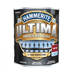 Hammerite Ultima Smooth Metal Paint 750ml R/Red
