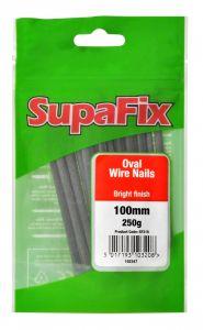 SupaFix Oval Wire Nails 100mm x 250g