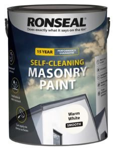 Ronseal Self Cleaning Smooth Masonry Paint 5L Warm White