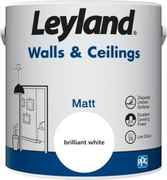 Leyland Walls & Ceilings Matt Brilliant White 2.5ltr