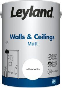 Leyland Walls & Ceilings Matt Brilliant White 5ltr