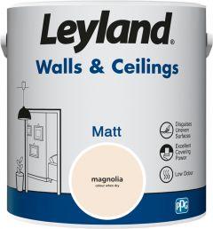 Leyland Walls & Ceilings Matt Magnolia 2.5ltr