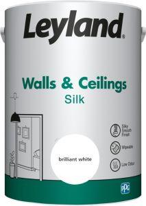 Leyland Walls & Ceilings Silk Brilliant White 5Ltr