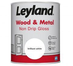 Leyland Wood & Metal Non Drip Gloss Brilliant Wht 750ml