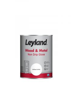 Leyland Wood & Metal Non Drip Gloss Brilliant Wht 2.5ltr