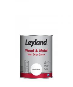 Leyland Wood & Metal Non Drip Gloss Brilliant Wht 2.5ltr