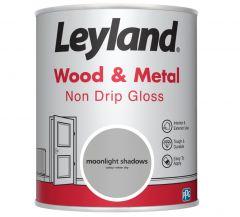 Leyland Wood & Metal Non Drip Gloss Mnlight Shdws 750ml