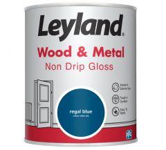 Leyland Wood & Metal Non Drip Gloss Regal Blue 750ml