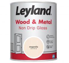Leyland Wood & Metal Non Drip Gloss Magnolia 750ml