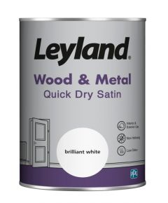 Leyland Wood & Metal Quick Dry Satin Brilliant Wht 1.25lt