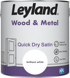 Leyland Wood & Metal Quick Dry Satin Brilliant Wht 2.5ltr