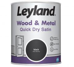 Leyland Wood & Metal Quick Dry Satin Black 750ml