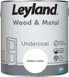 Leyland Wood & Metal Undercoat Brilliant White 2.5ltr