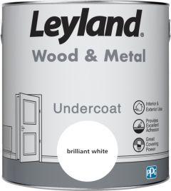 Leyland Wood & Metal Undercoat Brilliant White 2.5ltr