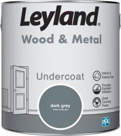 Leyland Wood & Metal Undercoat Dark Grey 2.5ltr