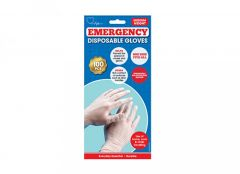 1St Aid Large Midweight Disposable PE Gloves Pack 100