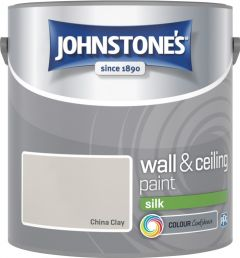 Johnstone's Wall & Ceiling Silk 2.5L China Clay