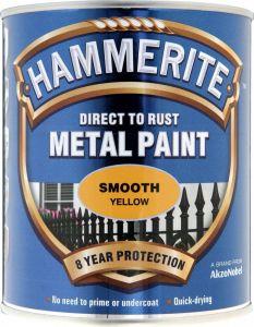 Hammerite Metal Paint Smooth 750ml Yellow