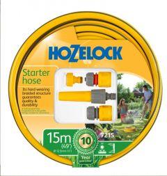 Hozelock Starter Hose & Fitting Set 15m