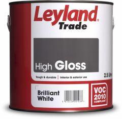 Leyland Trade Gloss 2.5L Brilliant White