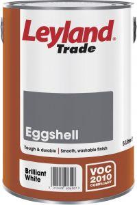 Leyland Trade Eggshell 2.5L Brilliant White