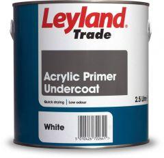 Leyland Trade Acrylic Primer Undercoat 2.5L White