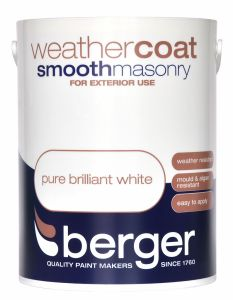 Berger Weathercoat Smooth Masonry 5L Pure Brilliant White