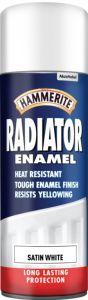 Hammerite Radiator Enamel 400ml Aerosol Satin White